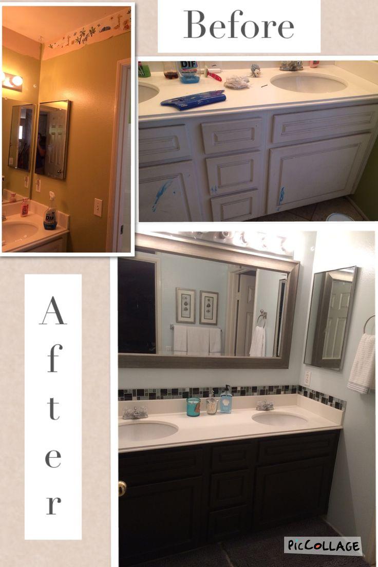 Kid S Bathroom Makeover Removed Wallpaper Border The