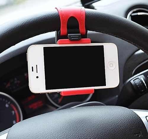 Suporte Celular Volante Veicular Iphone Gps Lg Samsung Nokia - R$ 7,99 em Mercado Livre
