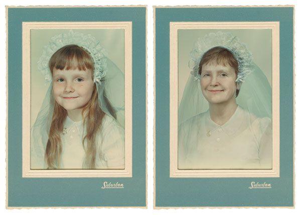 Childhood Photos Recreated Decades Later - by irina werning - Carol 1960 & 2011, New York