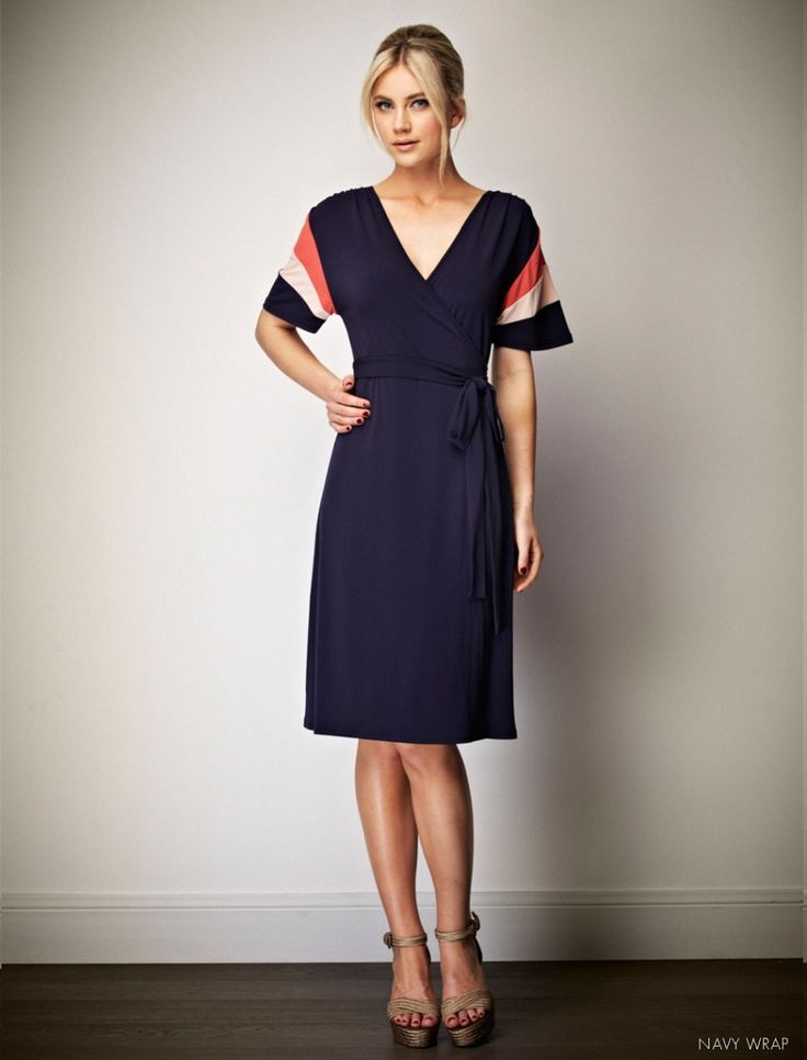 Leona Edmiston Tori wrap dress - love the coral sleeve details