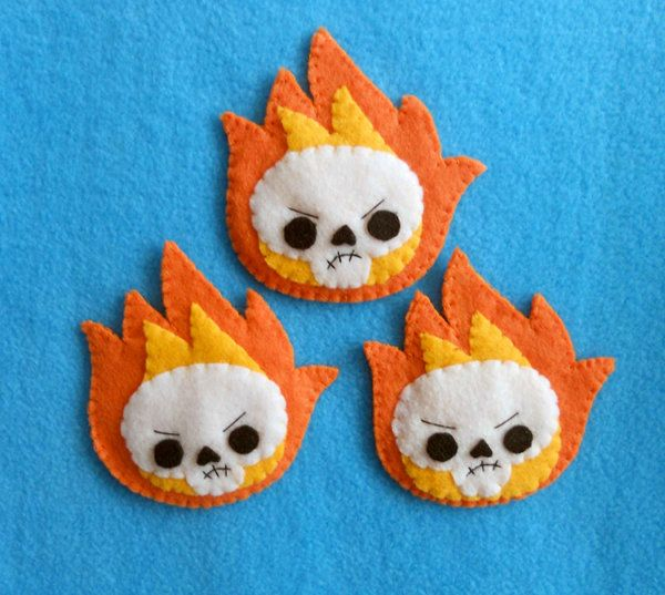 17 Best Felt Skull Images On Pinterest