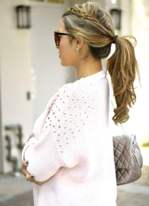 動きやすい!前髪編み込みポニーテール☆ ライブ・コンサートにおすすめのヘアスタイルのアイデア。髪型・アレンジ・カットの参考に☆