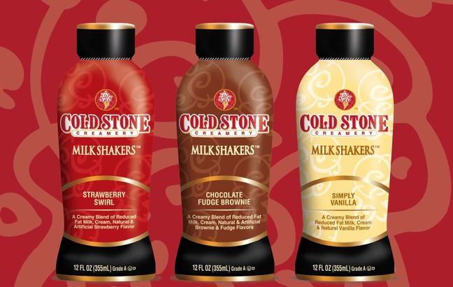 Cold Stone Creamery's Milk Shakers available at retail