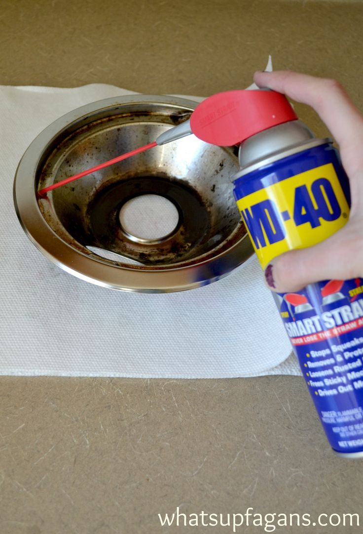 How to clean burner pans with WD-40 and if it works or not! Truth on the best way to clean stove drip pans.