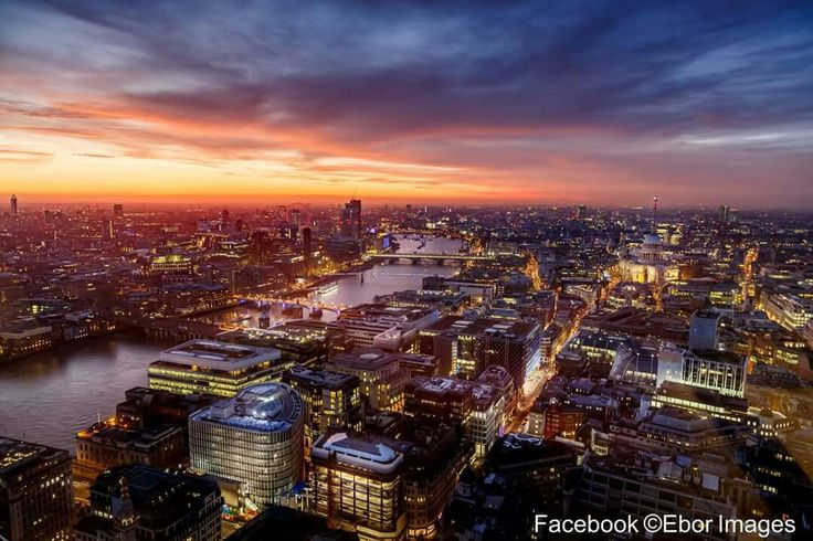 Incredible sunset over the city of London. One of the best I have been lucky enough to capture. There are many buildings in the city which are accessible to the public either paid for or free. Most have to be booked beforehand but it's worth it to get a good vantage point. This particular building is the Sky Garden which is free to go up.