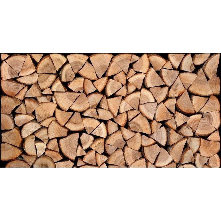 Zelfklevend hoofdeinde met houtblokmotief