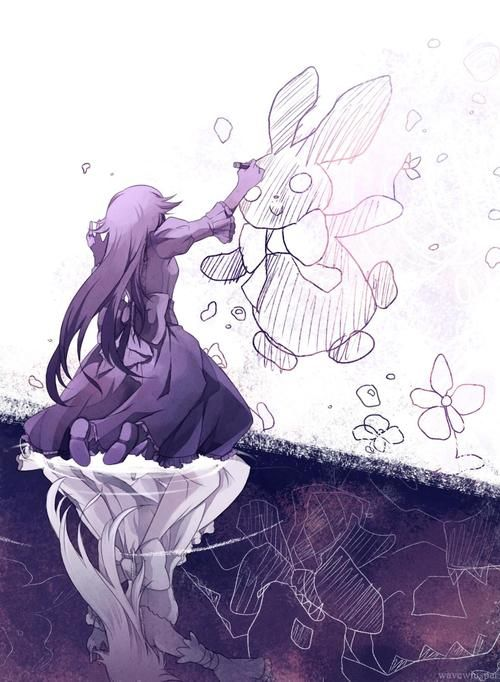 Pandora Hearts Alice and black rabbit cute doodles