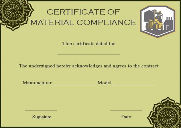 16 Downloadable And Printable Certificate Of Compliance Templates