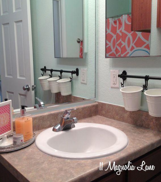 """Ikea--so doing this in kids' bathroom so toothbrushes """"don't touch."""""""