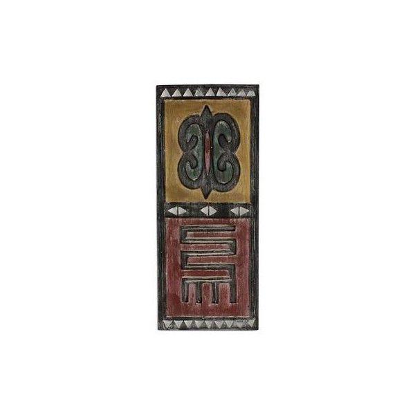 NOVICA Wood Wall Art From Ghana With Akan Symbols (1.875 CZK) ❤ Liked On