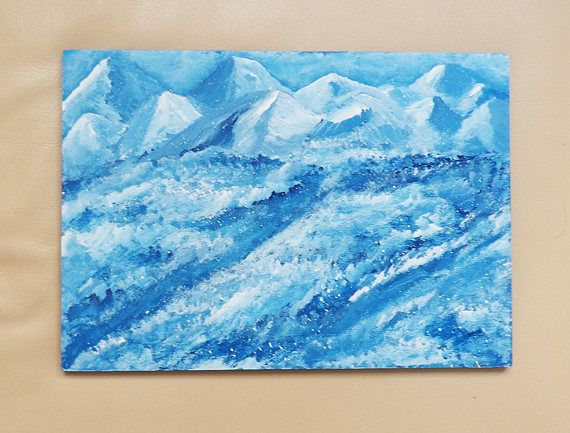 Abstract Painting Landscape Original Art Acrylics on Wood