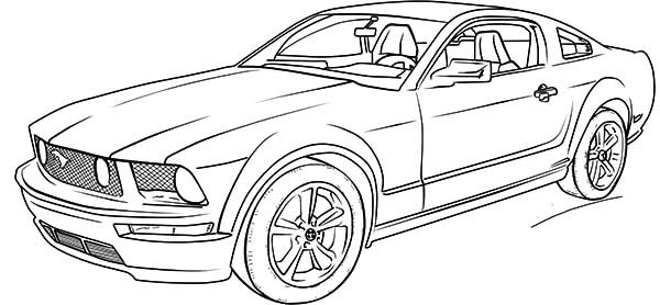 fast cars coloring pages to print | Ford Mustang Car Coloring Pages | Coloring Pages | Cars ...