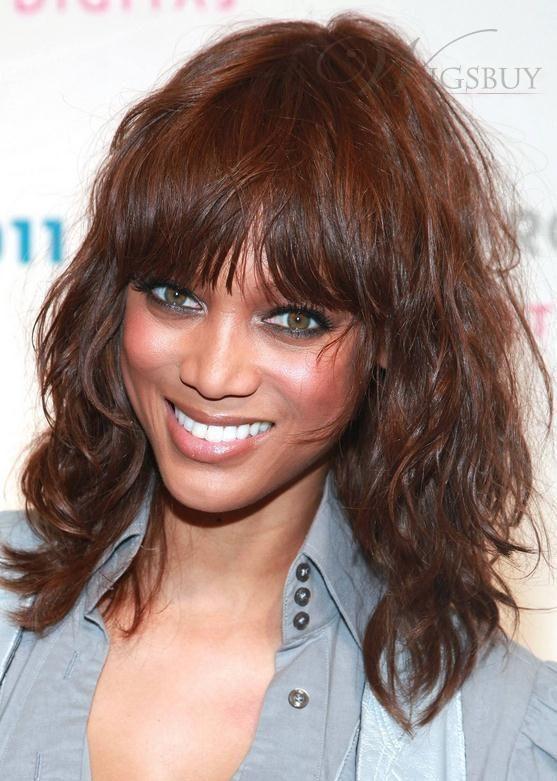 Fabulous Inexpensive Tyra Banks Hairstyle Medium Loose Wavy100% Indian Hair wigs http://shop.wigsbuy.com/Custom-African-American-Wigs-101793/Begin-Medium-End/4/