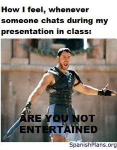 It never hapened but, if one day I see someone texting during my oral presentation... He will regret.
