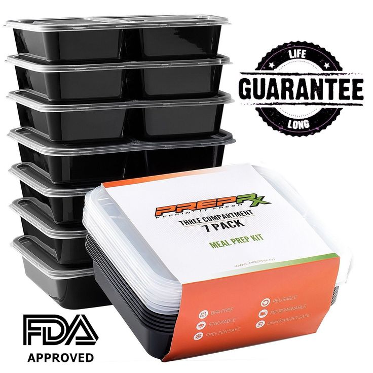 Meal prep containers 7pack of reusable portion control