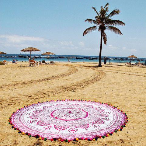 Toalla toalla xl toalla mandala toalla redonda toallas redondas toalla de moda mandala - Toallas redondas de playa ...