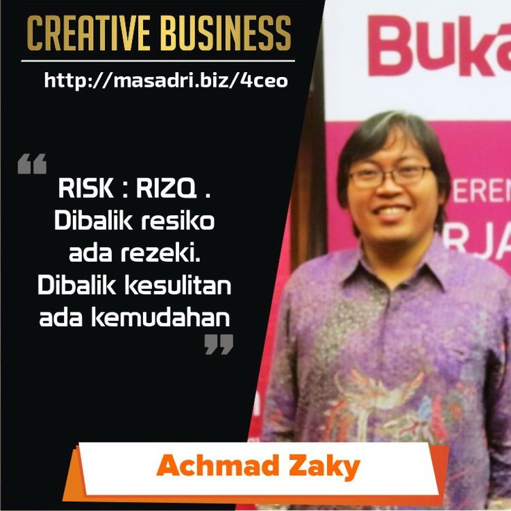 RISK=RIZQ #motivasibisnis