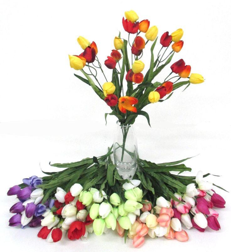 Selyem tulipán csokrok a Zöldvilág Webáruházban