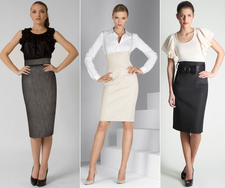 """Hello there office ladies! Do you have already at least one high waist skirt in your closet..? It is one of the ways how to optically elongate your legs. Well even if you don't have one like these you are still good to go by """"faking you wear one"""" - take a pencil skirt which sits well around your waist and add a wide belt on the top of it to create an illusion of hight waist skirt."""