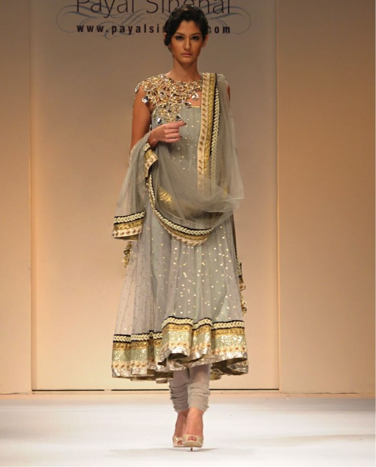 Love this Grey Anarkali #IndianFashion #IndianWeddings #PlanShaadi