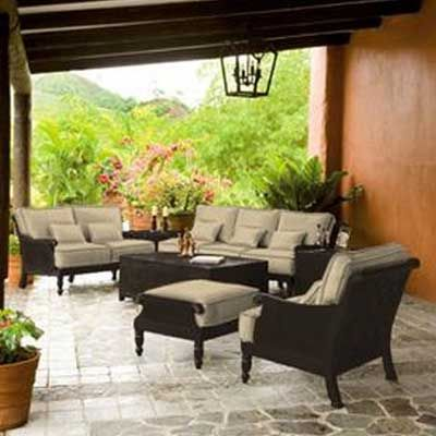 Sunnyland Patio Furniture   Jakarta Cushion Loveseat By Castelle Pride  Family Brands   Dallas Fort Worthu0027s