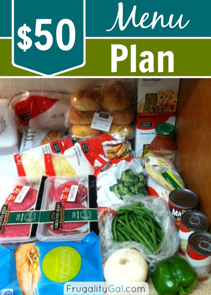 A look into my $50 menu plan and tips and tricks for menu planing on a budget. Frugal Living Tips #frugal #savingmoney #thrifty