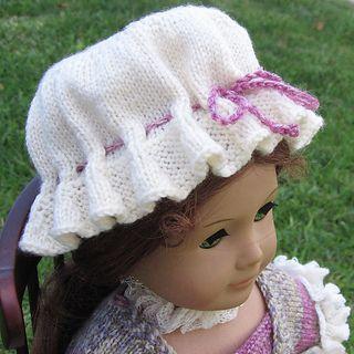Mob Cap - Free Knit Pattern