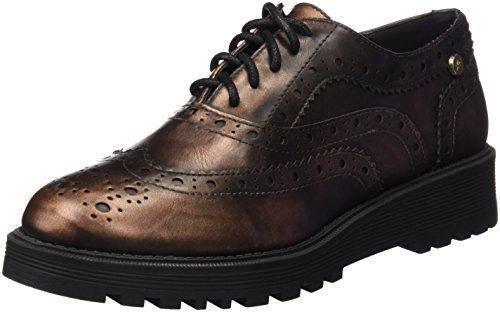 Oferta: 46.95€ Dto: -35%. Comprar Ofertas de XTI Sra Metalizado, Zapatos de Cordones Oxford para Mujer, Dorado (Bronce), 38 EU barato. ¡Mira las ofertas!