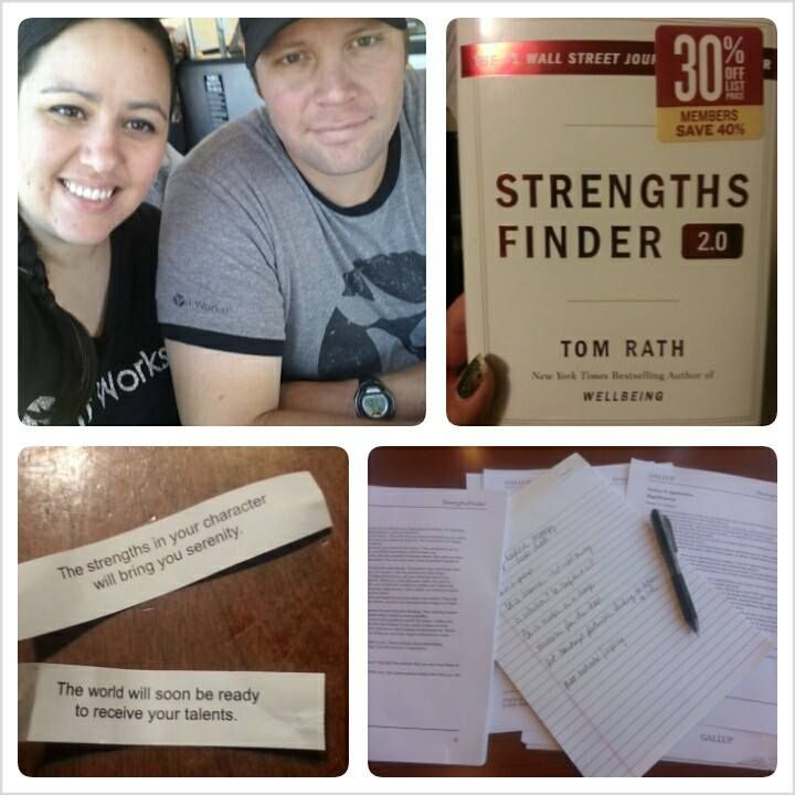 Husband and I took the Strengths Finder test! We had a working lunch to strategize how to use our strengths to build our business together. Side note: check out the fortunes we got in the same day! LOL #strengthsfinder #wahm #retiredhusband #nataliepool #crazywrapthing #workfromhome
