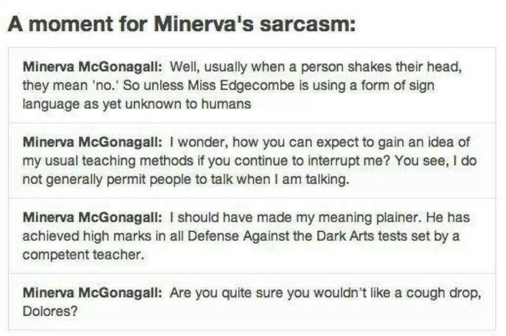 McGonagall is one of the best characters in Harry Potter
