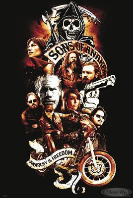 sons of anarchy tattoos | Sons of Anarchy PosterAnarchy is Freedom Tattoo Style