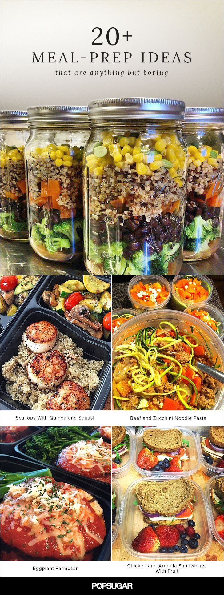 You might meal prep for a variety of reasons: to save money, eat healthier, or because you finally overdid it at the bodega by your office. No matter what the reason, meal prepping is now the norm and we're seeing some pretty delicious — and adorable — meal inspirations coming to fruition. Make it a personal challenge to whip up one of these recipes per week and see how much money and how many calories you save by doing so.