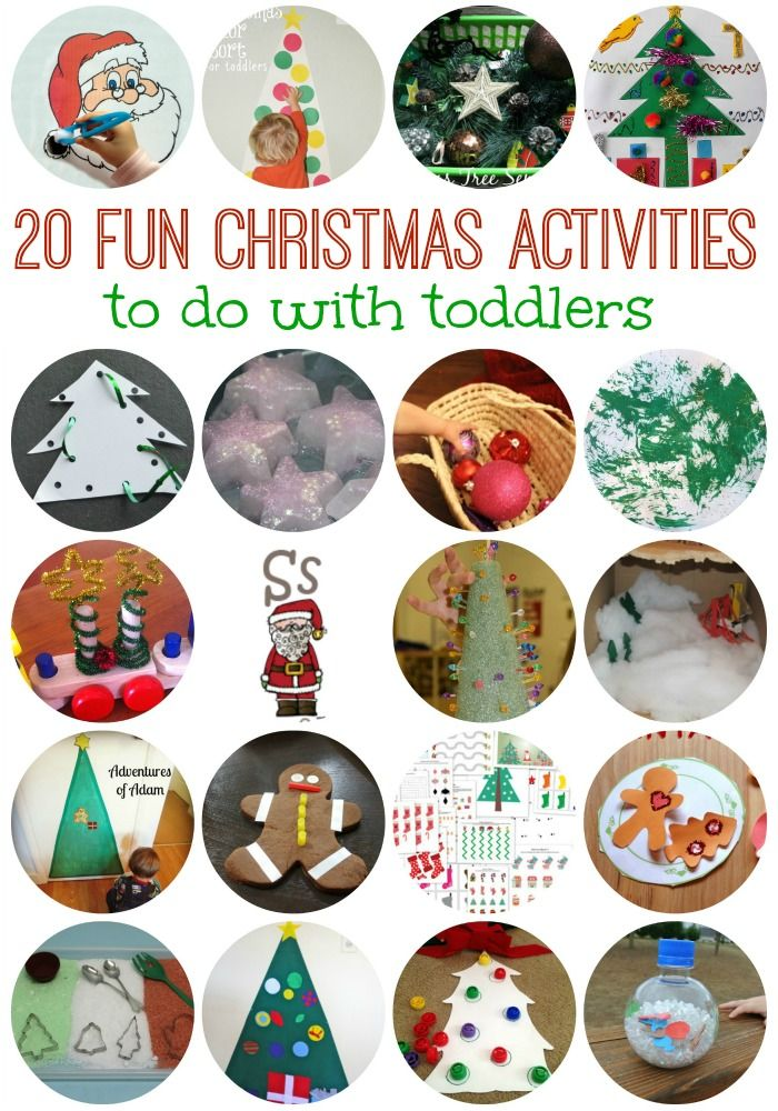 Great list of 20 FUN toddler Christmas activities! So many fun ideas to do with 1-3 year olds!