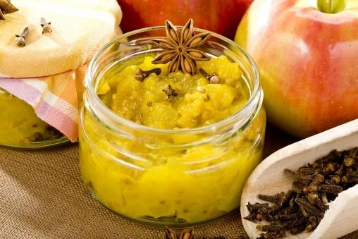 Chutney jabłkowy (cynamon, imbir, anyż, gorczyca, papryczka chili suszona, kurkuma)