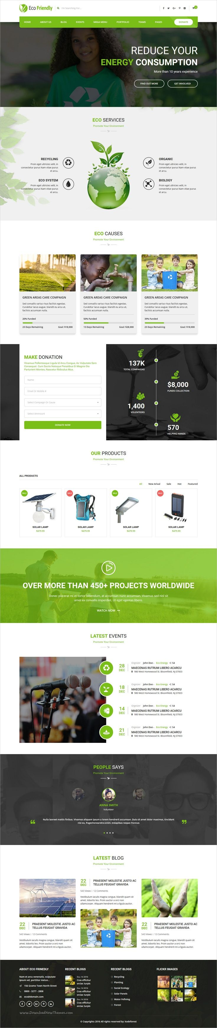 Eco friendly is a wonderful responsive #HTML bootstrap template for #environment, #organic life project or animals saving fund raiser websites download now➩ https://themeforest.net/item/eco-friendly-environmental-ecology-template/19266637?ref=Datasata