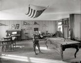 """Good Clean Fun: 1912      Circa 1912. """"Neighborhood House, pool room."""" Another look at this Washington, D.C., ... show up right from the beginning of the 48 star flag in 1912. After 1916, pretty much everyone switched to the even rows with the ... flags with staggered rows are somewhat rare and are early (1912-1916 or thereabouts). Supersize me. What else do they ..."""