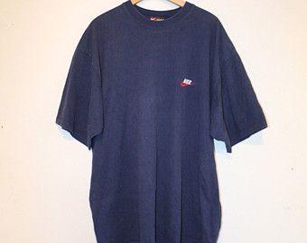 BLUE NIKE TEE // size xx large // 90s // t-shirt // oversize // swoosh // athletic // minimal // vintage!