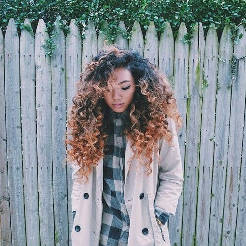 Ombre curly hair,color #1b/30, Shop the same human hair extensions from \( ^▽^…