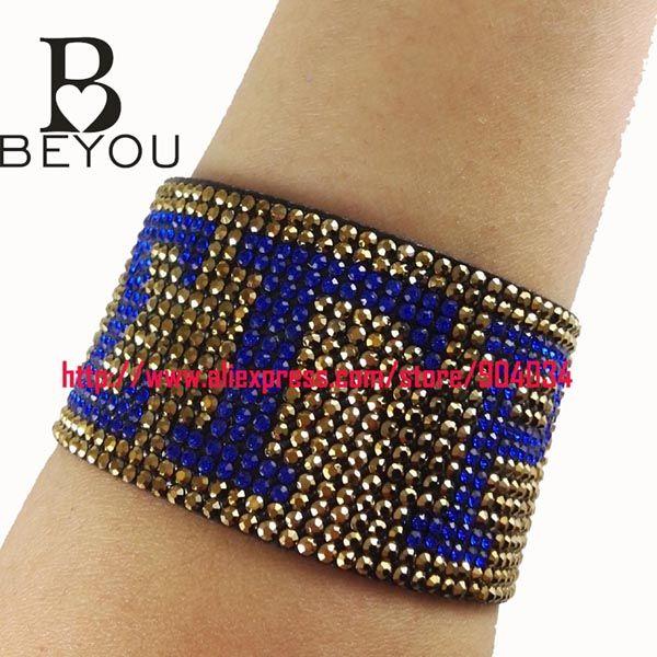 Sigma Gamma Rho Greek   Sorority   Hot Leather Crystal Wrap Bracelets For Women custom Jewelry