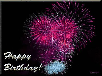 happy birthday fireworks   Moving animated Happy Birthday greeting images, Birthday party and ...