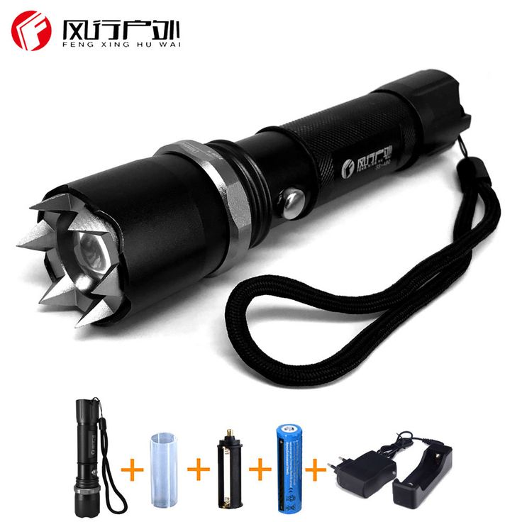 Hunting18650 Flashlight LED Lanterna Linterna Powerful Tatica Flash Light Lamp with 18650 Battery and Charger #Affiliate