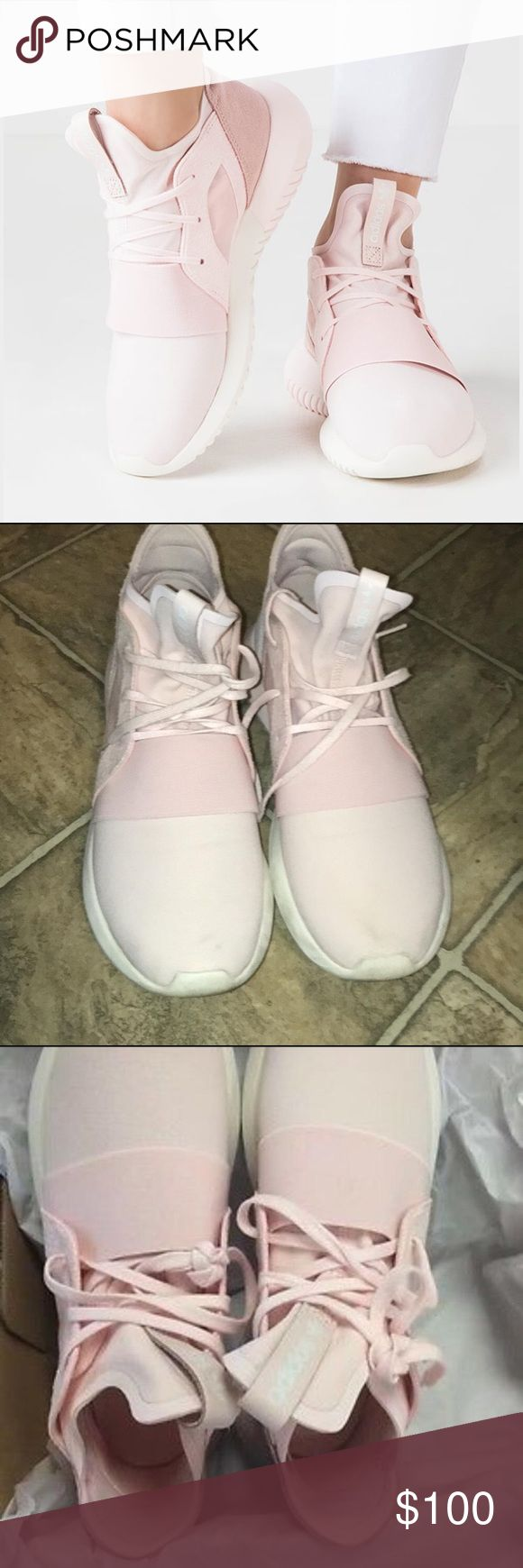 Adidas by Stella McCartney Tubular Defiant Snekers Tubular Defiant Halopink Sneakers! Used in great condition!  No damage on the shoes! Adidas by Stella McCartney Shoes Sneakers