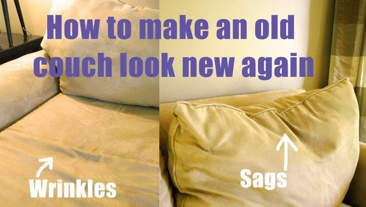 How to make an old couch new again for $10 | Living Rich on LessLiving Rich on Less