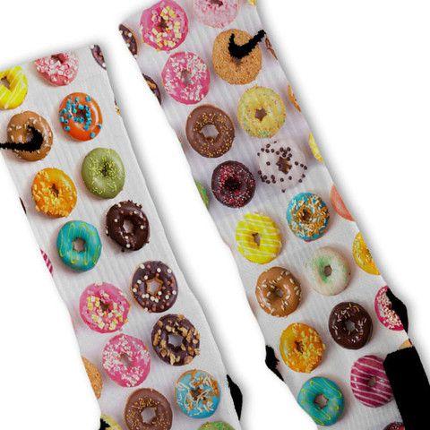 Doughnuts + Donuts Extreme Customized Nike Elite Socks