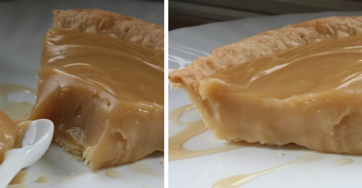 Traditionnelle tarte crémeuse au sirop d'érable
