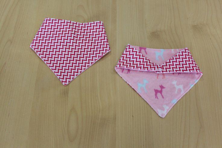 Mini pink chevron/ deer print baby bandana/ dribble bib, available from my Etsy shop https://www.etsy.com/au/listing/243631720/reversible-bandana-bib-mini-pink-chevron