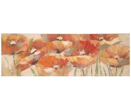 Red Poppies Festmény 50x150 cm