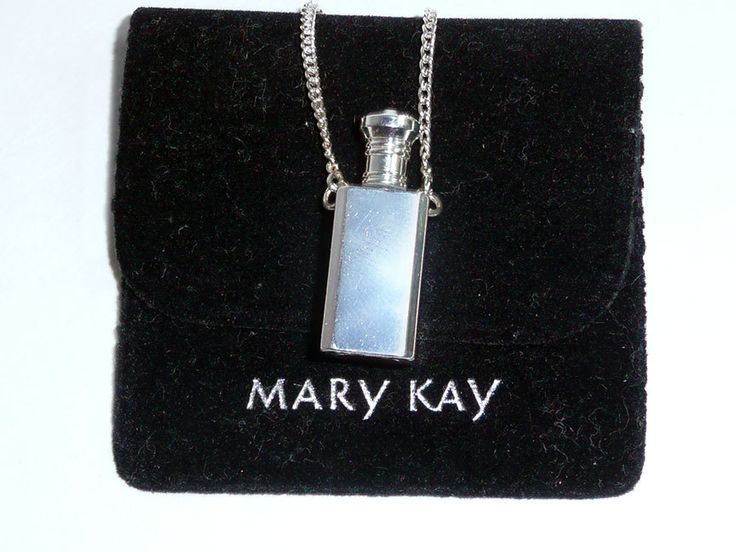 Vintage Mary Kay Perfume Vial Necklace,1980's Costume Jewelry,Sterling Silver Plated,Vintage Necklace,Vintage Mary Kay, Black Pouch by JollieSweets on Etsy