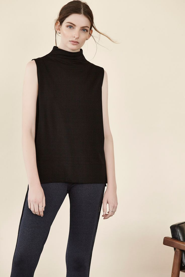 Take on Monday with this great new look. The Jewel Neck Tank is here and is so simple, yet instantly classic. http://ss1.us/a/n23LlQQJ