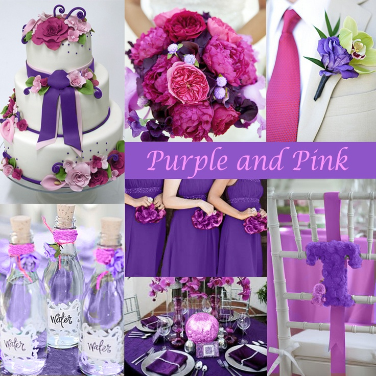 Purple And Pink Wedding Colors